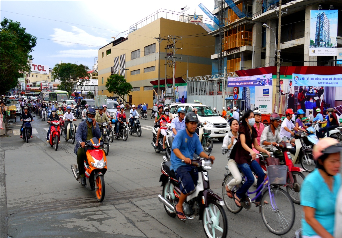 Crazy traffic in Ho Chi Minh City