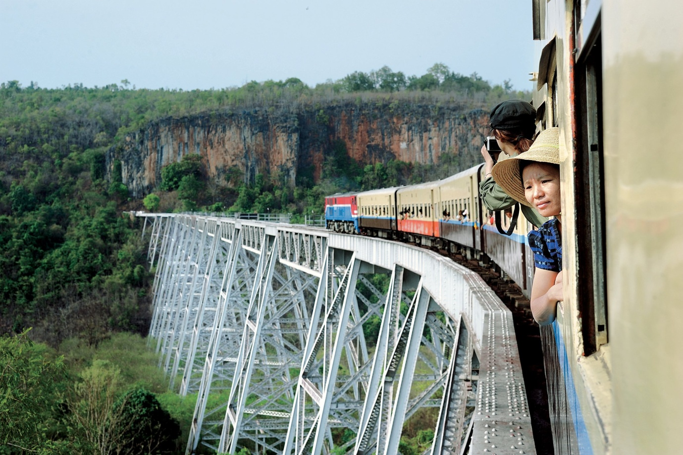 Cross the highest bridge of Myanmar