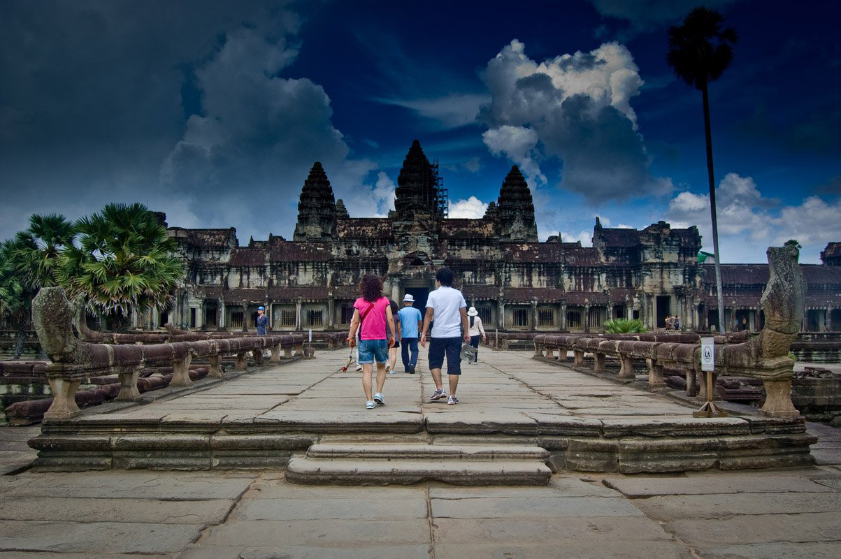 Jeans and T-shirts are still popular choices of visitors in Cambodia
