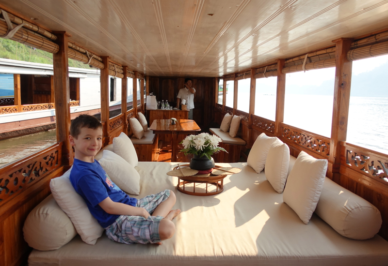 a luxury cruise in Luang Prabang
